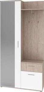 LYNCO - meuble d'entrée 2 portes et 1 tiroir -
