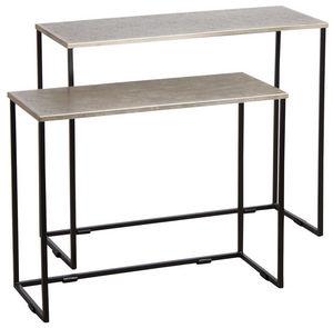 Aubry-Gaspard - consoles en métal laqué (lot de 2) - Konsolentisch