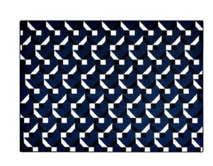 PINTON - constructivisme bleu - Moderner Teppich