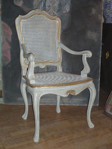 Terra Di Siena - fauteuil louis xv provence - Strohsessel