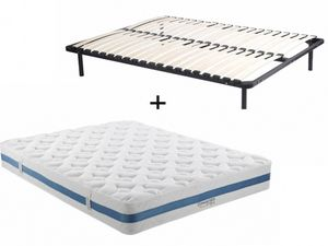 Vente-Unique.com - ensemble matelas + sommier airplay - Bettwäsche