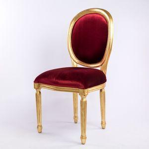 DECO PRIVE - chaise médaillon rouge - Medaillon Stuhl