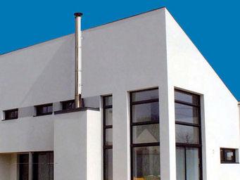 Poujoulat - conduit de fumée maison contemporaine - Kaminzug