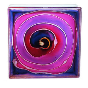 Painted glass blocks - spiral - Glasbaustein