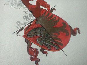 Xavier d'Andeville Héraldiste - peinture de vos armoiries - Technikfarbe