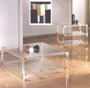 ACRIME - 2 shelves table - 3 shelves t.v.trolley - Couchtisch Quadratisch
