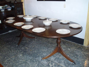 ANTIGÜEDADES BRITANIA - table de repas à rallonge sheraton - Ausziehbarer Tisch