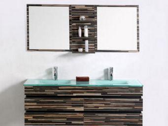 UsiRama.com - meuble double vasque design original - Badezimmermöbel