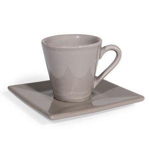 Maisons du monde - tasse et soucoupe à café inspiration perle - Kaffeetasse