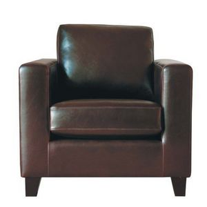 MAISONS DU MONDE - fauteuil croûte de cuir kennedy - Sessel