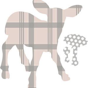 ART STICKER - sticker chambre bébé agneau - Kinderklebdekor