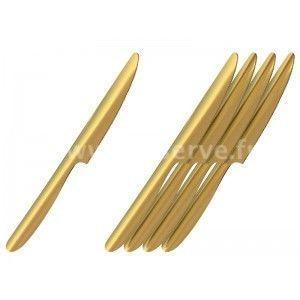 Adiserve - couteau starck par 10 couleurs or - Einwegbesteck
