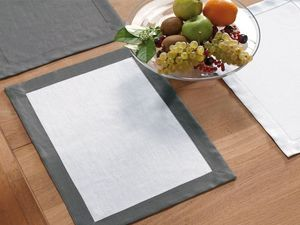 BLANC CERISE - lot de 2 sets de table blanc et gris - lin déperla - Tischset