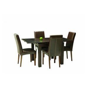 DECO PRIVE - table de salle a manger carree en bois colori weng - Rechteckiger Esstisch