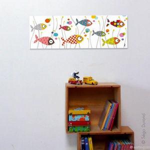 SERIE GOLO - toile imprimée mille bulles 60x20cm - Dekorative Gemälde Für Kinder