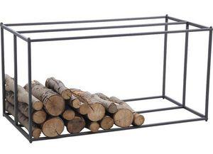 Aubry-Gaspard - porte-bûches horizontal en métal gris - Holzträger