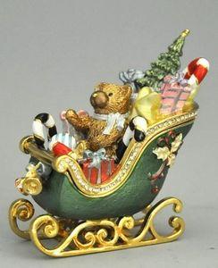 Demeure et Jardin - traineau de noêl avec cadeaux - Ziervase