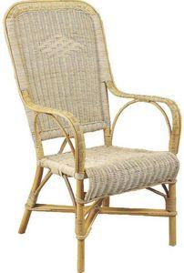 Aubry-Gaspard - fauteuil rotin blanc - Gartensessel