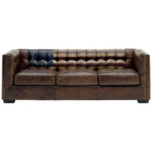 Mathi Design - canapé en cuir vieilli - Chesterfield Sofa