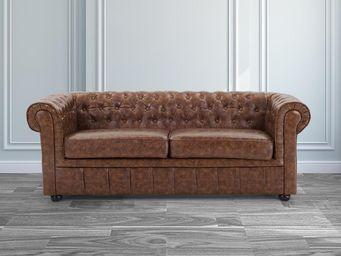 BELIANI - sofa chesterfield old style - Chesterfield Sofa