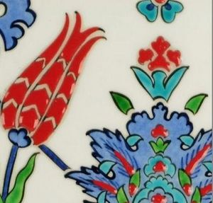 KARAVANESERAIL - ottoman lalé  - Keramikfliese