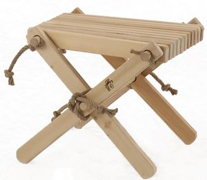 ECOFURN - repose pieds table basse lilly mélèze - Fußstütze