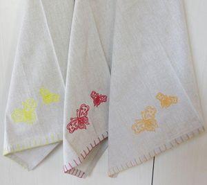 ITI  - Indian Textile Innovation - butterfly - Geschirrhandtuch