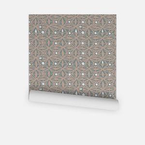 la Magie dans l'Image - papier peint anis vert-de-gris beige - Tapete