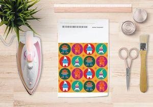 la Magie dans l'Image - papier transfert héros pattern orange - Verlegung