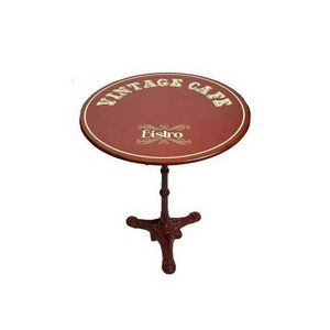Mathi Design - table de café ronde vintage - Bistrotisch