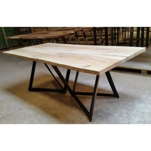 Mathi Design - table repas origami avec structure originale - Rechteckiger Esstisch