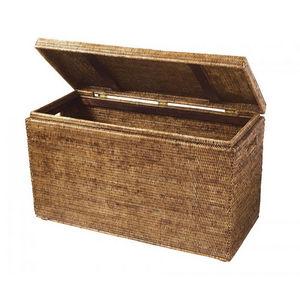 ROTIN ET OSIER - renforts bois kassy-- - Truhe