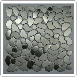 TOOSHOPPING - crédence carrelage inox mosaique inox galet - Wand Fliesenmosaik