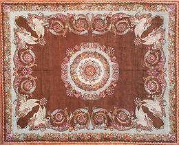 Armand Deroyan - tapis d'aubusson au point de la savonnerie - Aubusson Teppich