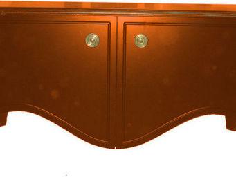 Luc Perron - 2 portes lisses rouge basque - Hoches Anrichte