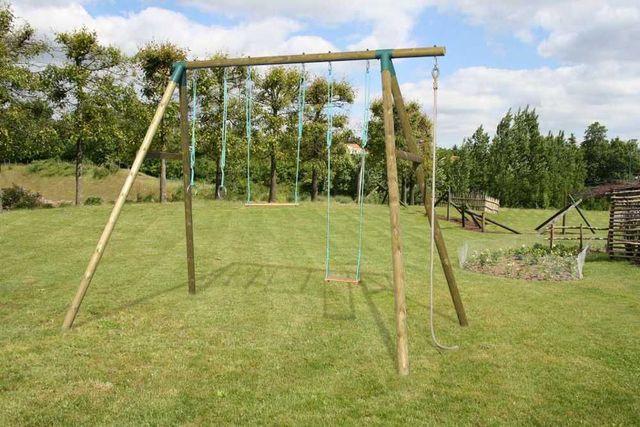 SOULET - Spielplatz-SOULET-Portique en bois spécial ados avec 4 agrès 3,25m