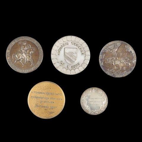 Expertissim - Medaille-Expertissim-Cinq médailles en argent Ve République