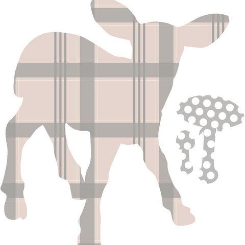 ART STICKER - Kinderklebdekor-ART STICKER-Sticker chambre bébé agneau