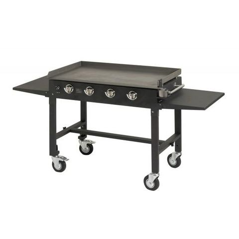 Favex - Pfannen-Grill-Kombination-Favex-barbecue plancha grill 4 feux sur chariot master l