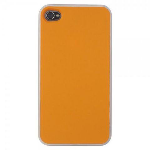 La Chaise Longue - Mobiltelefonhülle-La Chaise Longue-Etui Iphone 4 Coloré duo violet/orange