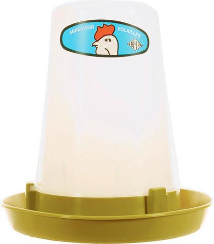 ZOLUX - Vogelfutterkrippe-ZOLUX-Abreuvoir en Plastique 3L pour Volaille 24x24x27cm