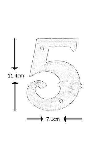 BEST FOR BOOTS - Hausnummerschild-BEST FOR BOOTS-Numéro de maison en Fonte 5 11,4x7,1x1cm
