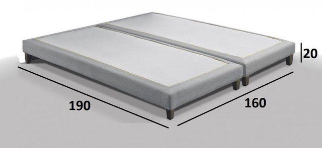 WHITE LABEL - Fester Federkernbettenrost-WHITE LABEL-Sommier double haut de gamme BRISTOL 160*200 cm ti
