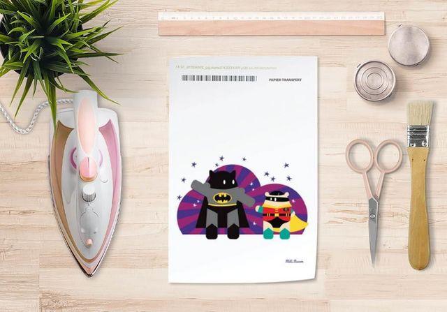 la Magie dans l'Image - Verlegung-la Magie dans l'Image-Papier transfert Héros Batman