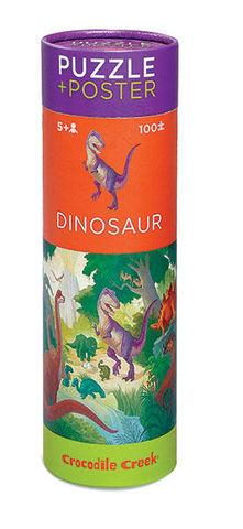 BERTOY - Kinderpuzzle-BERTOY-100 Pc Puzzle & Poster Dinosaur