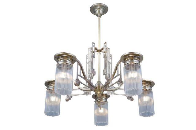 PATINAS - Kronleuchter-PATINAS-Stuttgart 5 armed chandelier