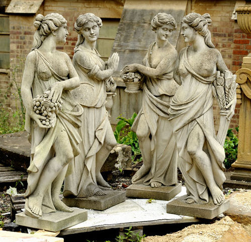Wrights of Campden - Karyatide-Wrights of Campden-Four-seasons statues