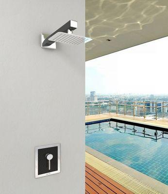 INOXSTYLE - wand mischbatterie-INOXSTYLE-Miscelatore Carbon a muro leva e placca inox mod.