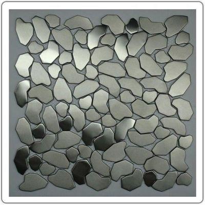 TOOSHOPPING - Wand Fliesenmosaik-TOOSHOPPING-Crédence Carrelage inox Mosaique Inox Galet
