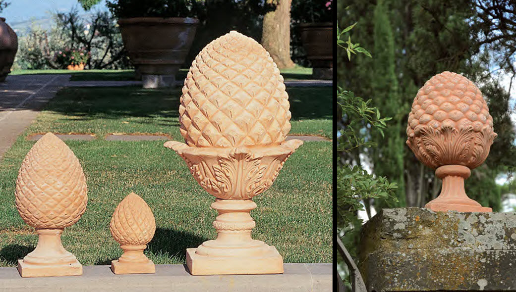 Enzo Zago Piña de pino Frutas decorativas Objetos decorativos  |